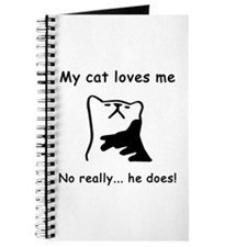 Sarcastic Cat Lover Gift Journal