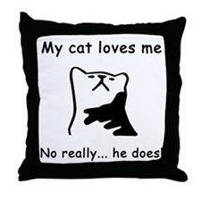 Sarcastic Cat Lover Gift Throw Pillow