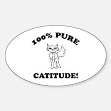 Cat Humor Gifts Oval Decal