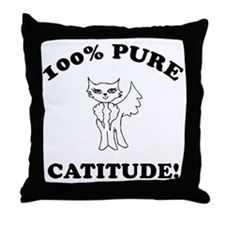 Cat Humor Gifts Throw Pillow