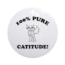 Cat Humor Gifts Ornament (Round)