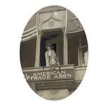 Jeanette Rankin Oval Ornament