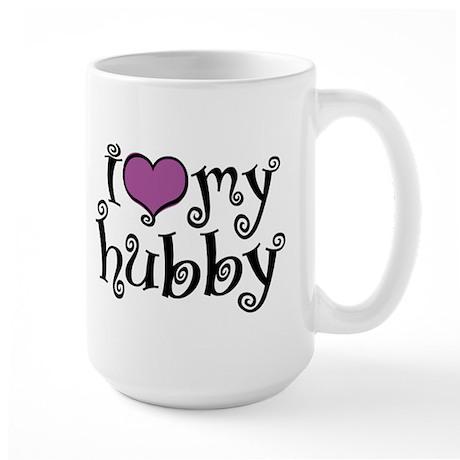 I Love My Hubby Large Mug