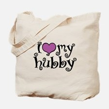 I Love My Hubby Tote Bag