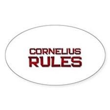 cornelius rules Oval Decal