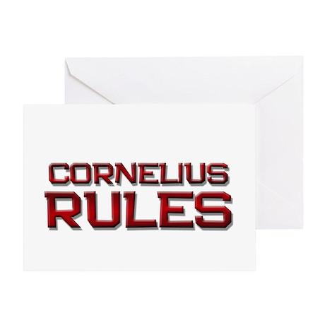cornelius rules Greeting Card