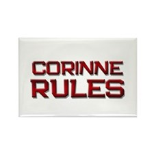 corinne rules Rectangle Magnet