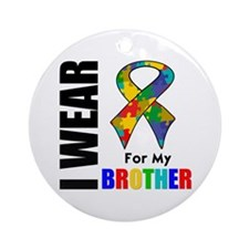 Autism Brother Ornament (Round)