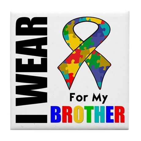 Autism Brother Tile Coaster