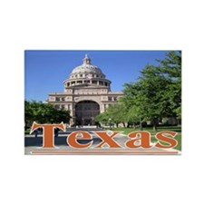 Texas State Capitol Rectangle Magnet