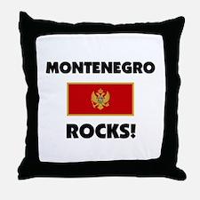 Montenegro Rocks Throw Pillow