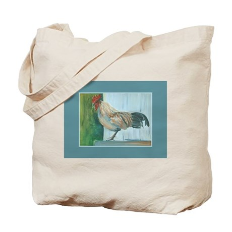 Country Rooster Tote Bag