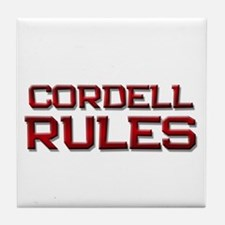cordell rules Tile Coaster