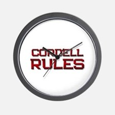 cordell rules Wall Clock
