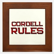 cordell rules Framed Tile