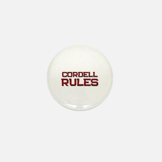 cordell rules Mini Button