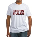 corbin rules Fitted T-Shirt