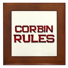 corbin rules Framed Tile