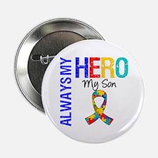 """Autism Hero Son 2.25"""" Button"""