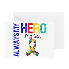 Autism Hero Son Greeting Card