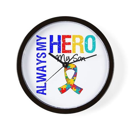 Autism Hero Son Wall Clock