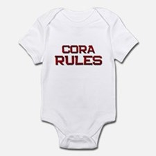 cora rules Infant Bodysuit