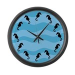 Seahorses Large Wall Clock