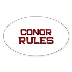 conor rules Oval Decal