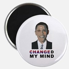 "Changed My Mind about Obama 2.25"" Magnet (10 pack)"