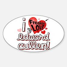 Freakin LOVE Edward Cullen! Oval Decal