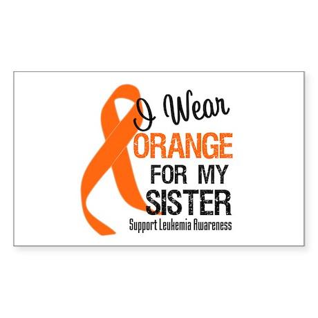 I Wear Orange For My Sister Rectangle Sticker