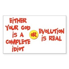 Your God Evolution Rectangle Decal