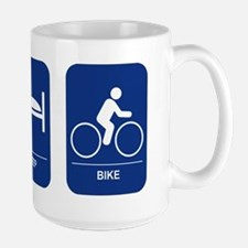 Eat, Sleep, Bike Large Mug