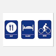 Eat, Sleep, Bike Postcards (Package of 8)
