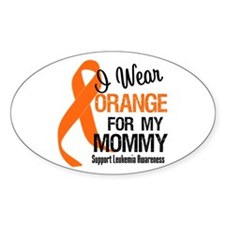 I Wear Orange For My Mommy Oval Decal