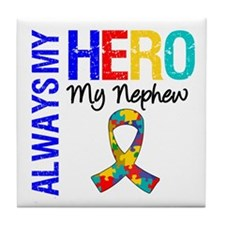 Autism Hero Nephew Tile Coaster