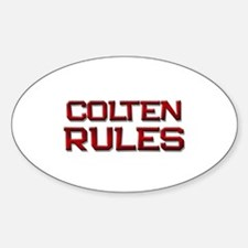 colten rules Oval Decal