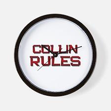collin rules Wall Clock
