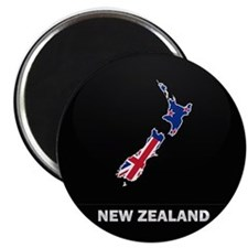 Flag Map of New Zealand Magnet