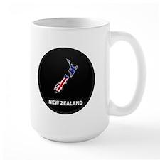 Flag Map of New Zealand Mug