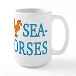 I Love Seahorses Large Mug