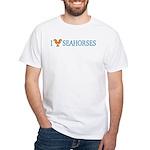 I Love Seahorses White T-Shirt