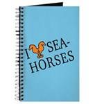 I Love Seahorses Journal