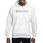 I Love Seahorses Hooded Sweatshirt