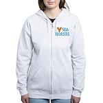 I Love Seahorses Women's Zip Hoodie