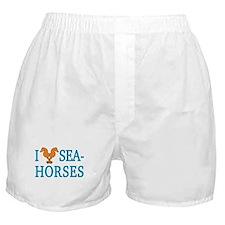 I Love Seahorses Boxer Shorts