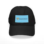 I Love Seahorses Black Cap