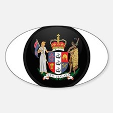 Coat of Arms of New Zealand Oval Decal