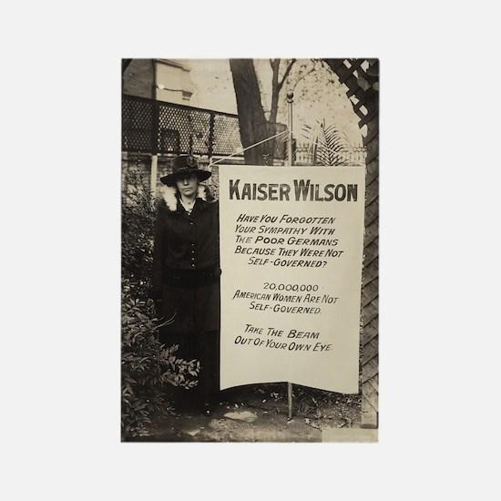 Kaiser Wilson - Votes for Women Rectangle Magnet