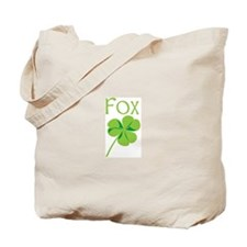 Fox shamrock Tote Bag